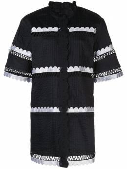 Cynthia Rowley платье-рубашка Cabana с фестонами 20R1DR05CO