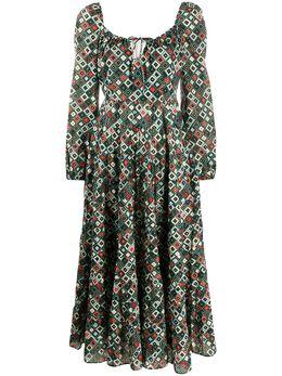Rixo платье с геометричным принтом RIX10447120684