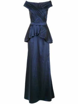 Tadashi Shoji атласное платье с баской CY19269L