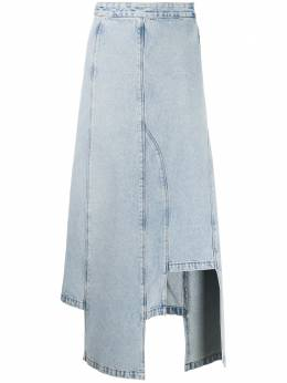 Ssheena джинсовая юбка с эффектом потертости 20SSJAREDDS20002