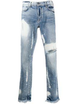 424 прямые джинсы с эффектом потертости MSS20006
