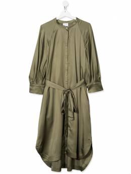 Unlabel атласное платье с воротником-стойкой BEGONIA