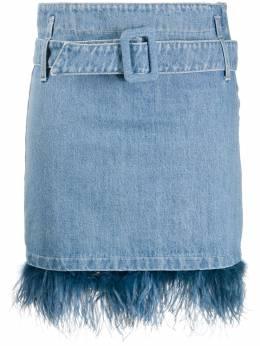 Simonetta Ravizza джинсовая юбка с вышивкой JVERYM