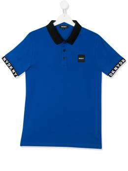 DKNY Kids TEEN pique polo top D25C83829