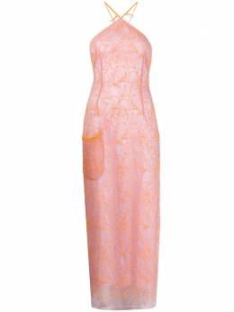 Jacquemus платье Lavandou из тюля с вышивкой 201DR2320127754