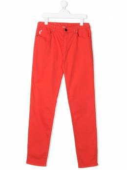 Paul Smith Junior джинсы кроя слим с нашивкой 5Q22572