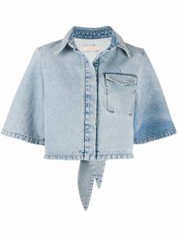 Ssheena джинсовая рубашка с эффектом потертости 20SSJANEDS20002