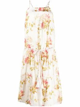 Semicouture платье миди с цветочным принтом Y0SI04
