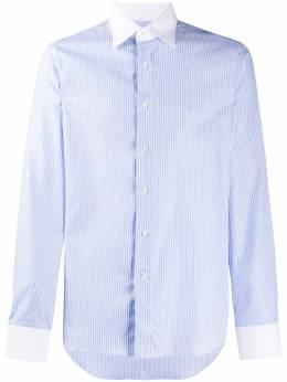 Canali рубашка с контрастным воротником X60GD01674