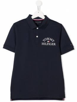 Tommy Hilfiger Junior TEEN logo-print polo shirt KB0KB05666