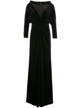 Tadashi Shoji вечернее платье Malee с V-образным вырезом BAL19444L