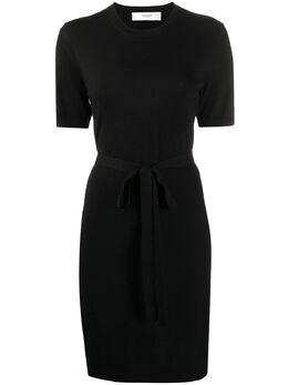 Pringle Of Scotland платье-футболка с завязками на талии WDH086