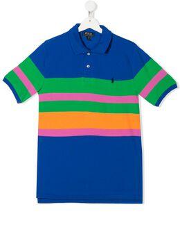 Ralph Lauren Kids полосатая рубашка-поло 323786340