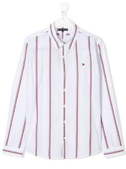Tommy Hilfiger Junior рубашка в полоску с логотипом KB0KB05711