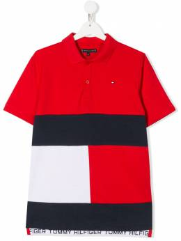 Tommy Hilfiger Junior рубашка-поло в стиле колор-блок KB0KB05665