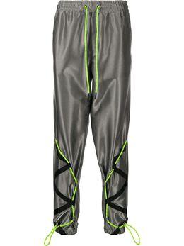 Iceberg спортивные брюки с эффектом металлик B1004774