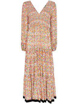 Rixo платье макси Brooke с цветочным принтом RIX10214220280