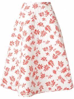 Lee Mathews стеганая юбка Lulu с цветочным принтом M1904SK189