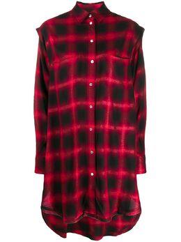 Diesel платье-рубашка в клетку 00SAPS0NAXZ