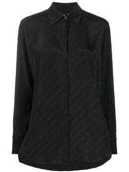 Victoria, Victoria Beckham жаккардовая рубашка с логотипом 2120WSH000425A