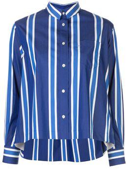 Sacai футболка в полоску с длинными рукавами 2005080