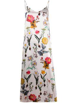 L'Autre Chose платье-комбинация с цветочным принтом BK510958001