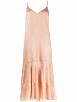 Mes Demoiselles ярусное платье в горох 20SSUITE