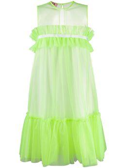 Gina короткое платье без рукавов с оборками GI100113A