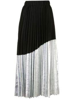 Nude плиссированная юбка асимметричного кроя 1103707