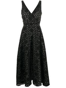 Harris Wharf London платье миди с цветочным узором A6515PYU