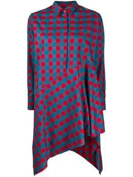 Marques'Almeida платье-рубашка в клетку SS20DR0003SHG