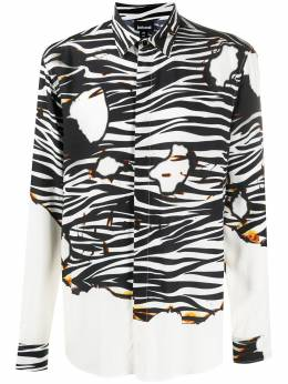Just Cavalli рубашка с зебровым принтом S03DL0281N39494