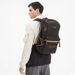 Puma - Рюкзак PUMA x FIRST MILE Backpack – Puma Black-Fizzy Orange – OSFA 4062449829440