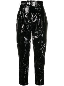 Pinko брюки с виниловым эффектом и поясом 1G14RA7951Z99