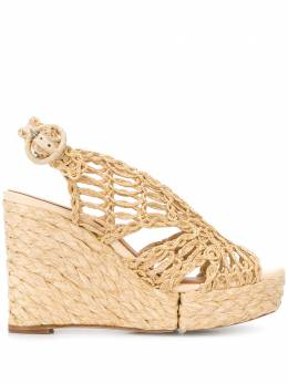 Paloma Barcelo woven style wedge heel sandals 128001425