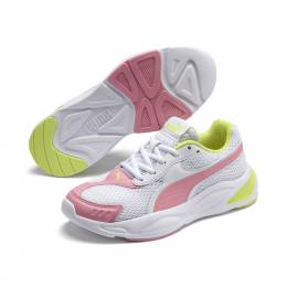 Puma - Кроссовки '90s Runner Mesh Youth Trainers – Puma White-Peony-Sunny Lime – 37 4062451497392
