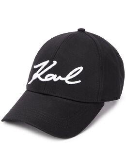 Karl Lagerfeld кепка с вышитым логотипом 201W3407999
