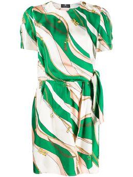 Elisabetta Franchi платье с графичным принтом AB03402E2