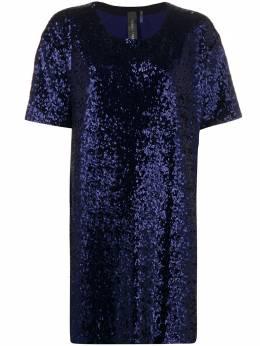 Norma Kamali платье мини с короткими рукавами ST1203SQ105012
