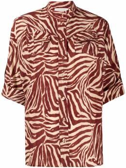 Zimmermann рубашка с зебровым принтом 7920TRWAV