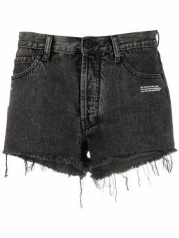 Off-White джинсовые шорты с бахромой OWYC002S20DEN0020700