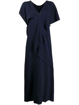 Erika Cavallini платье макси с V-образным вырезом E0ST03
