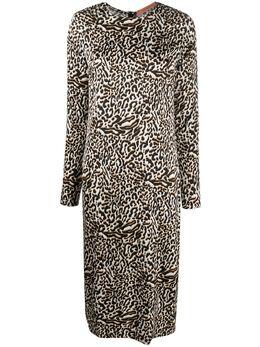 Andamane платье миди с леопардовым принтом BEULAH