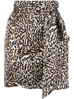 Andamane драпированная мини-юбка с леопардовым принтом Q02G050