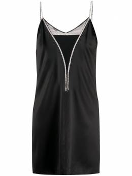 John Richmond платье-комбинация со стразами RWP20242VE