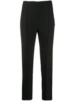 Hebe Studio брюки кроя слим с атласными лампасами SMOPVISOLID