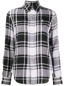Ralph Lauren рубашка в клетку с логотипом 211798167