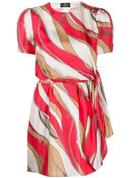 Elisabetta Franchi платье с короткими рукавами и принтом AB03402E2