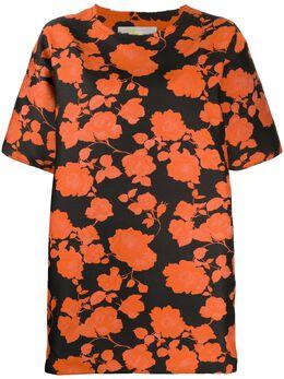 Marques'Almeida платье-футболка с цветочным принтом SS20TP0045BRF