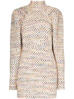 Rotate платье мини Kim с объемными рукавами 900658